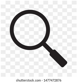 Isolated 	magnifying glass or search icon. Flat magnifier or search icon, for use in web design, ui, program, app, software and more. Vector EPS 10