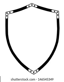 Isolated 16th Century Ceremonial or War Shieldr Vector