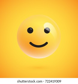 isolated 3dyellow happy emoticon set 260nw 722419309