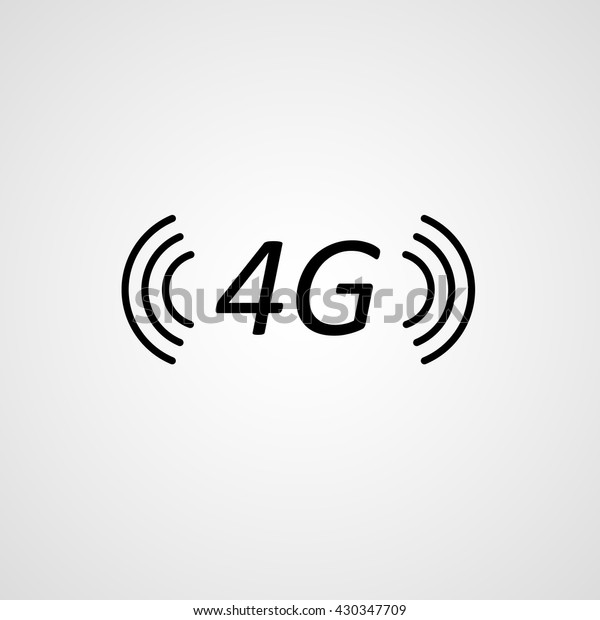 Isolated 4g Gsm Fast Internet Network Stock Vector (Royalty