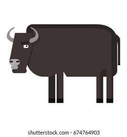 Isolated abstract buffalo on a white background, Vector illustration