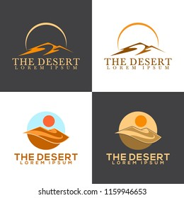 Isolated abstract desert logo template