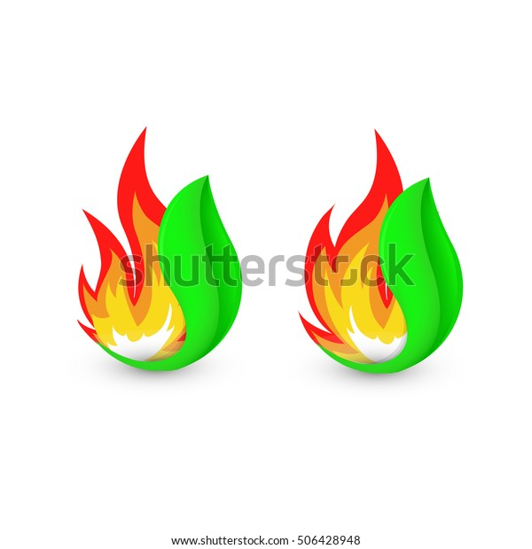 Isolated Abstract Fire Logo Flame Leaf Stock Vector Royalty