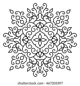 Isolated Abstract moroccan Floral pattern. Vector illustration