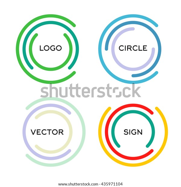 Isolated Abstract Round Shape Vector Logo Stock Vector