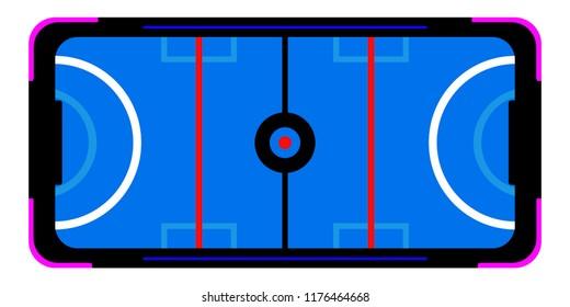 Isolated air hockey table for arcade. Vector illustration design