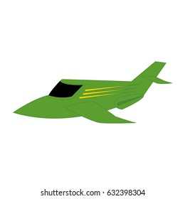 Isolated airplane on a white background, vector illustration
