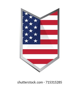Isolated american badge on a white background, Vector illustration