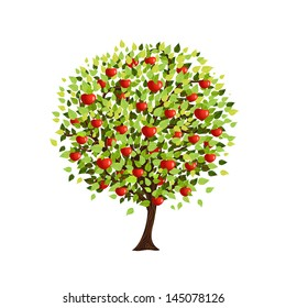 Isolated apple tree for your design