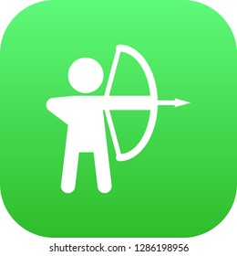 Isolated archer icon symbol on clean background. Vector longbow element in trendy style.