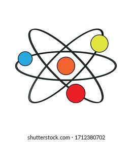 Isolated atom icon over a white background - Vector