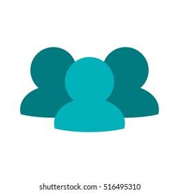 Isolated avatar of social media design