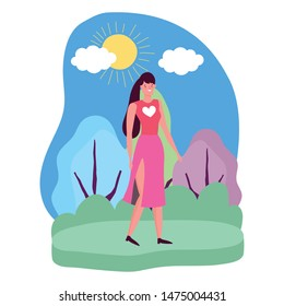 Isolated avatar woman vector design