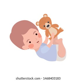 Isolated baby boy design vector illustration