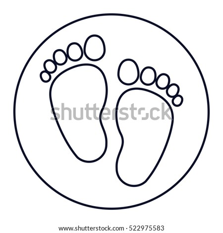 Isolated Baby Foot Print Design Stock Vector Royalty Free