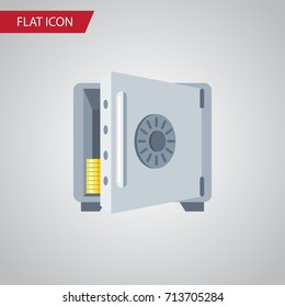 Isolated Banking Flat Icon. Coins Vector Element Can Be Used For Coins, Banking, Strongbox Design Concept.