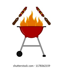 Isolated barbecue grill icon
