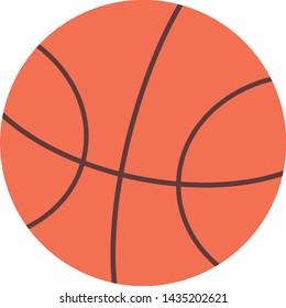 The isolated basket ball illustration