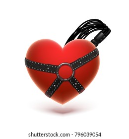Isolated bdsm heart icon on a white background