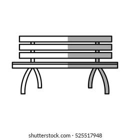 Isolated bench of park design