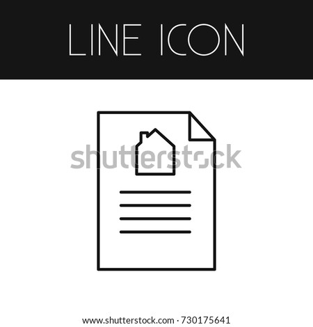 isolated bill sale outline document vector stock vector royalty