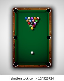 Isolated billiard table, top view. Eps 10
