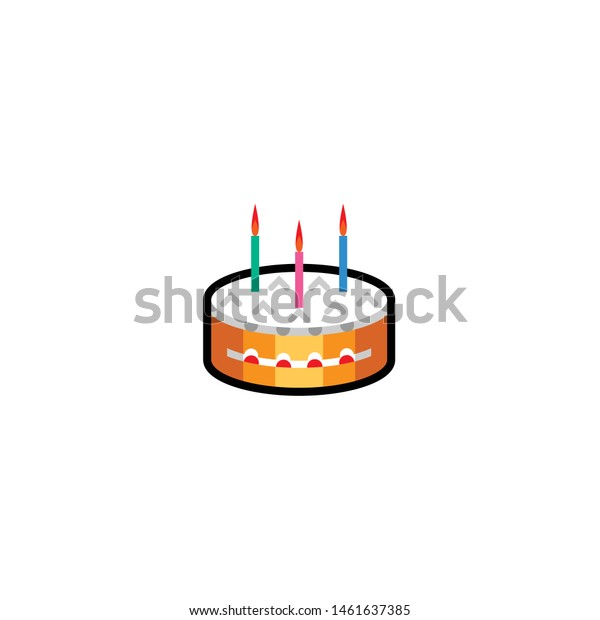 Magnificent Isolated Birthday Cake Emoji Icon Emoticon Abstract Food And Funny Birthday Cards Online Amentibdeldamsfinfo