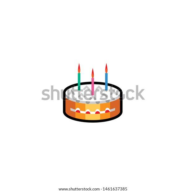 Marvelous Isolated Birthday Cake Emoji Icon Emoticon Abstract Food And Funny Birthday Cards Online Unhofree Goldxyz
