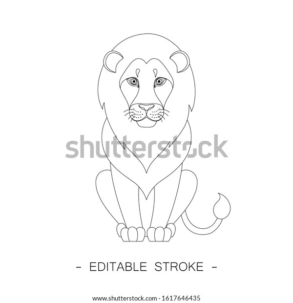 Lion Outline Sitting – Collection of lion outline cliparts (47) lion outline clip art drawing of a lion sitting