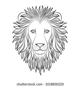 Lion Coloring Pages Images Stock Photos Vectors Shutterstock Download 56 lion outline free vectors. https www shutterstock com image vector isolated black outline head lion on 1018830220