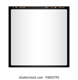 Isolated blank photo film
