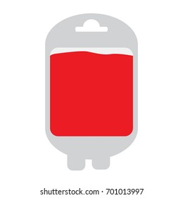 Isolated blood bag on a white background, Vector illustration