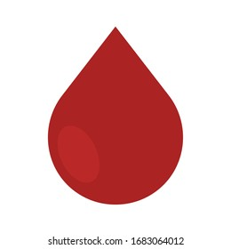 Isolated blood drop icon. Medical icon - Vector