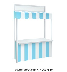 isolated blue carnival fair vending booth