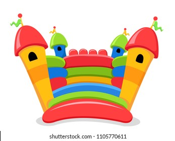 Isolated Bouncy Castle Illustration