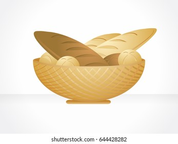 Isolated bread basket.