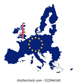 Isolated brexit map design