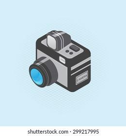 Isolated Camera Detailed Isometric