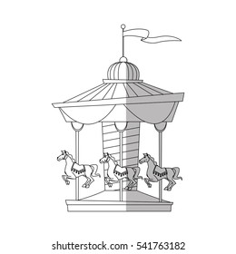 Isolated canival carousel design