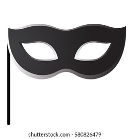 Isolated carnival mask on a white background, Vector illustration