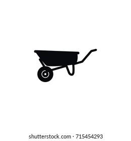 Isolated Cart Icon. Wheelbarrow Vector Element Can Be Used For Cart, Wheelbarrow, Pushcart Design Concept.