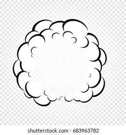 Isolated cartoon speech bubbles, frames of smoke or steam, comics dialogue cloud, vector illustration on white transparent background