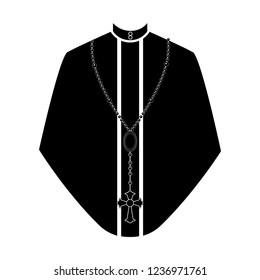 Isolated cassock silhouette. Catholic priest. Vector illustration design