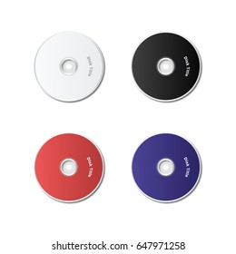 Isolated cd disk on white background.  Vector illustration.