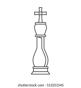 Isolated chess piece design