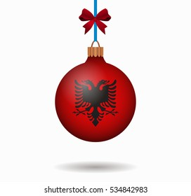 isolated christmas ball albania