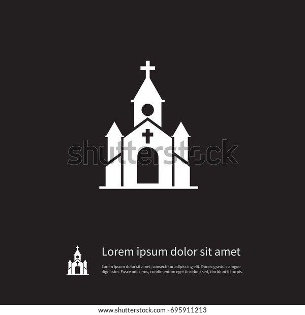 Isolated Church Icon Steeple Vector Element Stock Vector Royalty Free 695911213