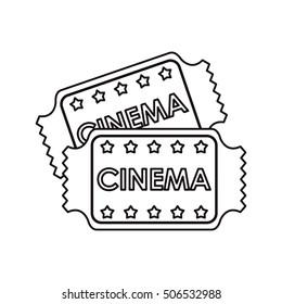 Isolated cinema tickets design