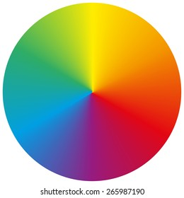 Isolated classic circular rainbow gradient background for your design
