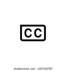 Isolated Closed Caption Icon Vector